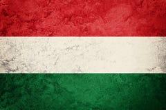 Bandierina di Grunge Ungheria Bandiera ungherese con struttura di lerciume Immagine Stock Libera da Diritti