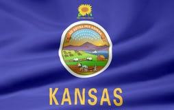 Bandierina di Kansas Immagine Stock