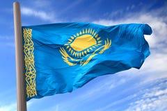 Bandierina di Kazakhstan Fotografia Stock Libera da Diritti