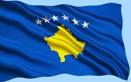 Bandierina di Kosovo fotografie stock