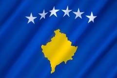 Bandierina di Kosovo Immagini Stock