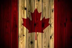 Bandierina di legno del Canada Immagine Stock