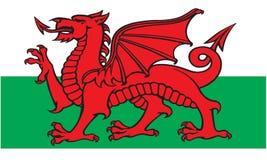 Bandierina di Lingua gallese Immagine Stock