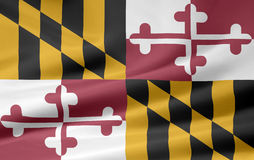 Bandierina di Maryland Fotografia Stock Libera da Diritti