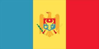 Bandierina di Moldova Fotografia Stock