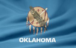 Bandierina di Oklahoma Immagini Stock