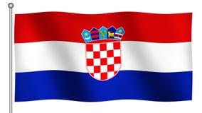 Bandierina di ondeggiamento del Croatia Fotografie Stock
