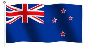 Bandierina di ondeggiamento della Nuova Zelanda Fotografie Stock Libere da Diritti