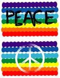 Bandierina di pace, segno di pace Fotografie Stock Libere da Diritti