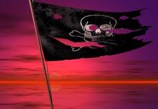 Bandierina di pirata Immagini Stock Libere da Diritti
