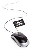 Bandierina di pirata e mouse del calcolatore Fotografia Stock Libera da Diritti
