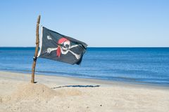 Bandierina di pirati immagini stock libere da diritti