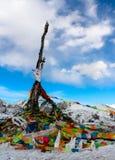 Bandierina di sacra scrittura del Tibet immagine stock