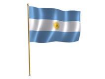 Bandierina di seta argentina Fotografia Stock Libera da Diritti