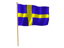 Bandierina di seta svedese Immagine Stock Libera da Diritti