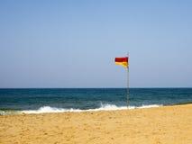 Bandierina di spiaggia Immagini Stock