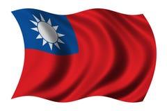Bandierina di Taiwan Fotografie Stock