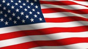 Bandierina di tela americana nella risoluzione 4k Immagini Stock