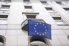 Bandierina di UE Fotografia Stock