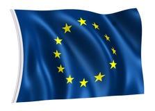 Bandierina di Unione Europea Fotografia Stock