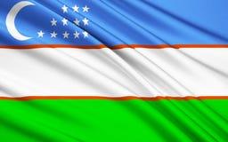 Bandierina di Uzbekistan illustrazione vettoriale