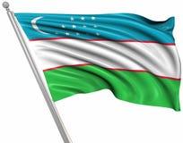 Bandierina di Uzbekistan illustrazione di stock
