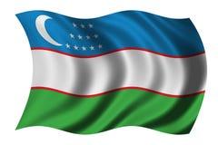 Bandierina di Uzbekistan royalty illustrazione gratis