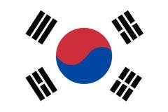 Bandierina di vettore della Corea Bandiera nazionale del Sud Corea 2:3 di allungamento Colori e proporzione ufficiali Fotografie Stock Libere da Diritti