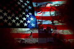 Bandierina e guerra del patriota degli S.U.A. Fotografie Stock