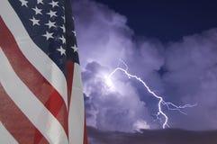Bandierina e tempesta Immagini Stock Libere da Diritti