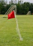 Bandierina ed obiettivo di calcio Immagine Stock Libera da Diritti