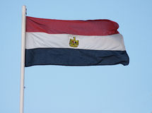 Bandierina egiziana Immagini Stock