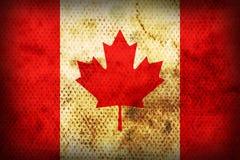 Bandierina esposta all'aria del Canada Immagini Stock Libere da Diritti