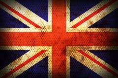 Bandierina esposta all'aria del Regno Unito Immagini Stock
