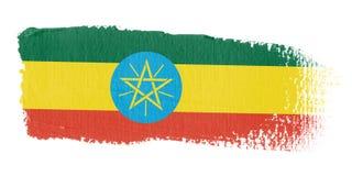 Bandierina Etiopia di Brushstroke Fotografie Stock Libere da Diritti