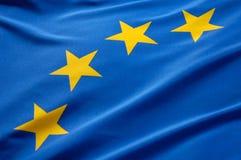 Bandierina europea Immagini Stock Libere da Diritti