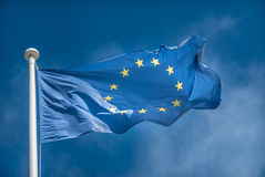 Bandierina europea Fotografie Stock Libere da Diritti