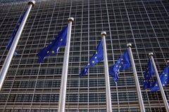 Bandierina europea Bruxelles Fotografie Stock Libere da Diritti