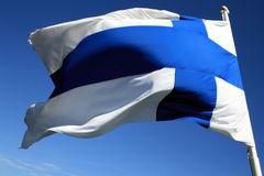 Bandierina finlandese Fotografie Stock