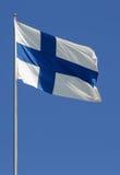 Bandierina finlandese Immagine Stock