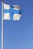 Bandierina finlandese Fotografia Stock Libera da Diritti