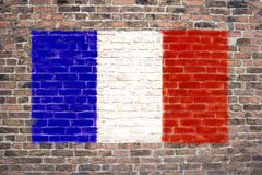 Bandierina francese Immagine Stock Libera da Diritti