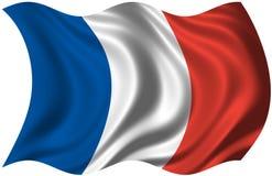 Bandierina francese illustrazione vettoriale