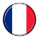 Bandierina francese del tasto Immagini Stock Libere da Diritti