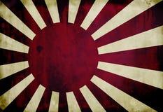 Bandierina giapponese del blu marino di Grunge Fotografia Stock Libera da Diritti