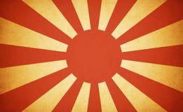 Bandierina giapponese di guerra di Grunge Fotografie Stock Libere da Diritti