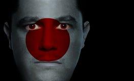 Bandierina giapponese - fronte maschio Fotografia Stock