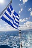 Bandierina greca Immagine Stock