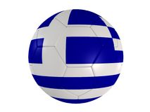 Bandierina greca su un gioco del calcio Fotografia Stock