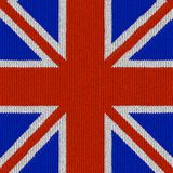 Bandierina inglese nel reticolo di lavoro a maglia Fotografia Stock